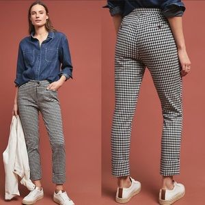 Anthropologie Essential Slim Checkered Pants